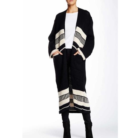Long Knit Sweater in Black